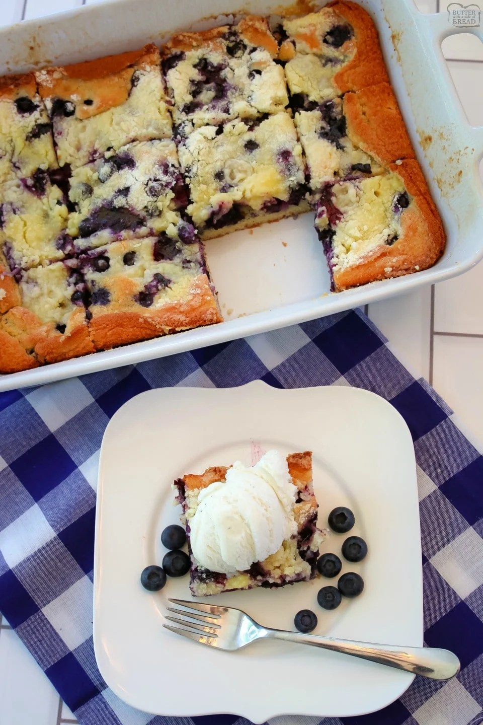 Buttery Blueberry Snack Cake