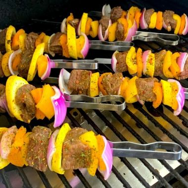Marinated Grilled Steak Kabobs