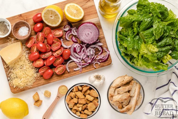 Ingredients in Lemon Caesar Salad