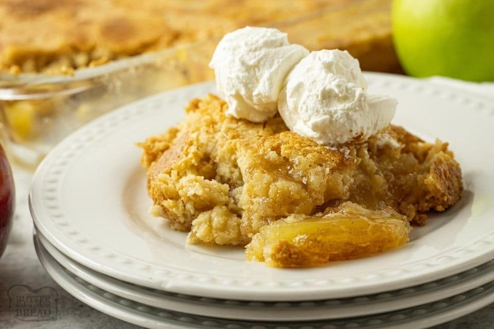 Easy 4 ingredient Apple Dump Cake