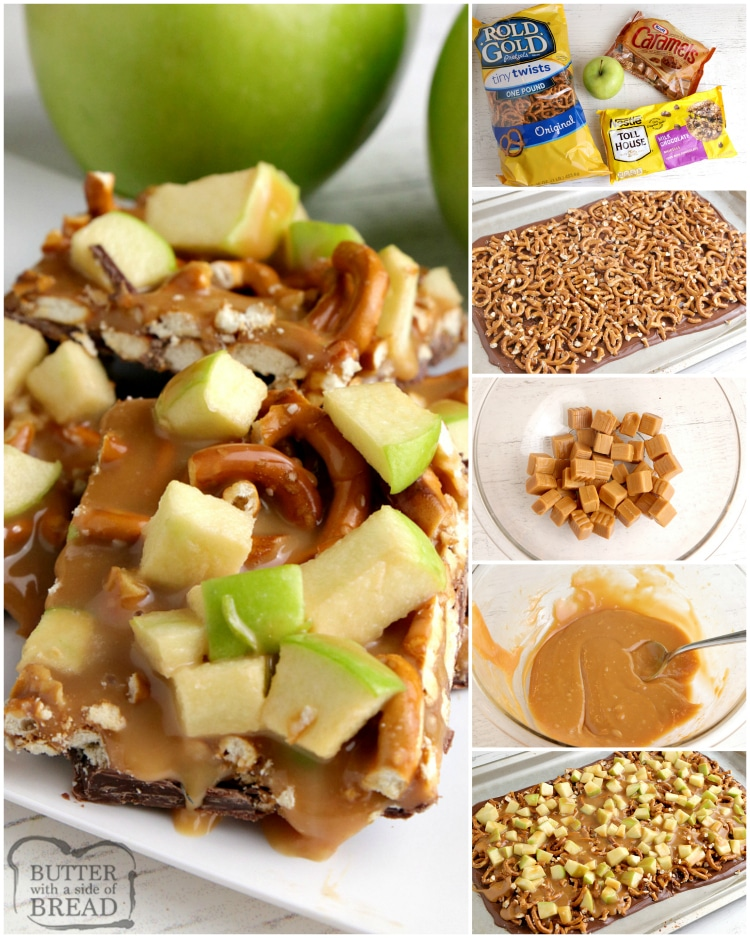 How to make caramel apple bark