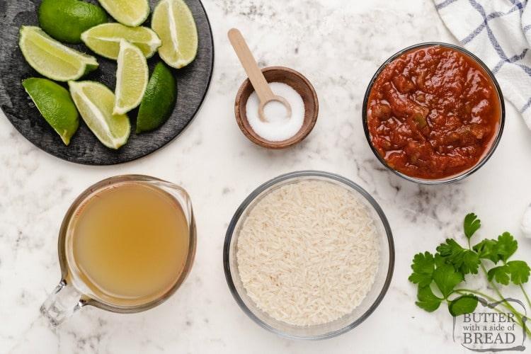 Ingredients in easiest Mexican rice recipe