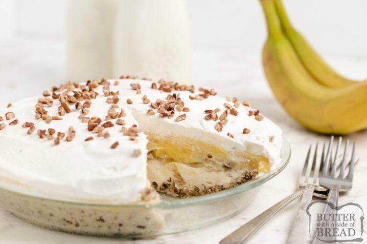 Banana pecan pie