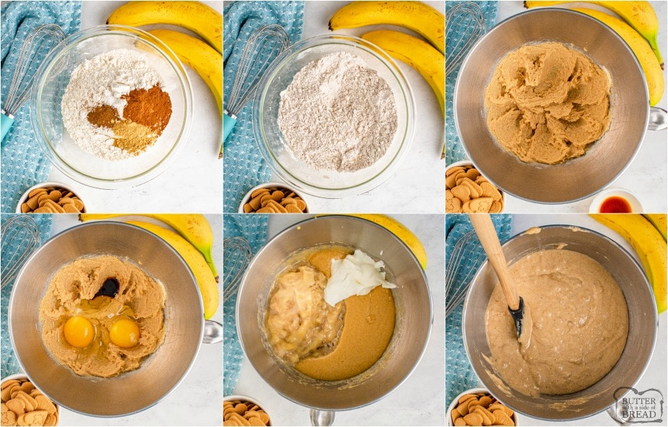 how to make Easy Gingersnap Banana Bread recipe