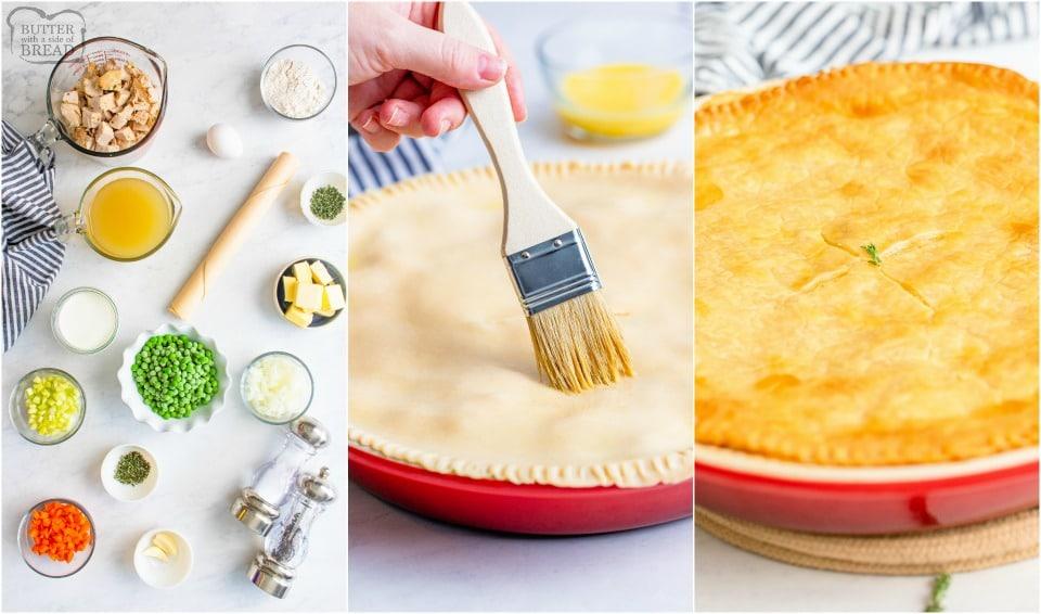 how to make Leftover turkey pot pie recipe