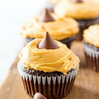 Peanut Butter Blossom Cupcakes recipe