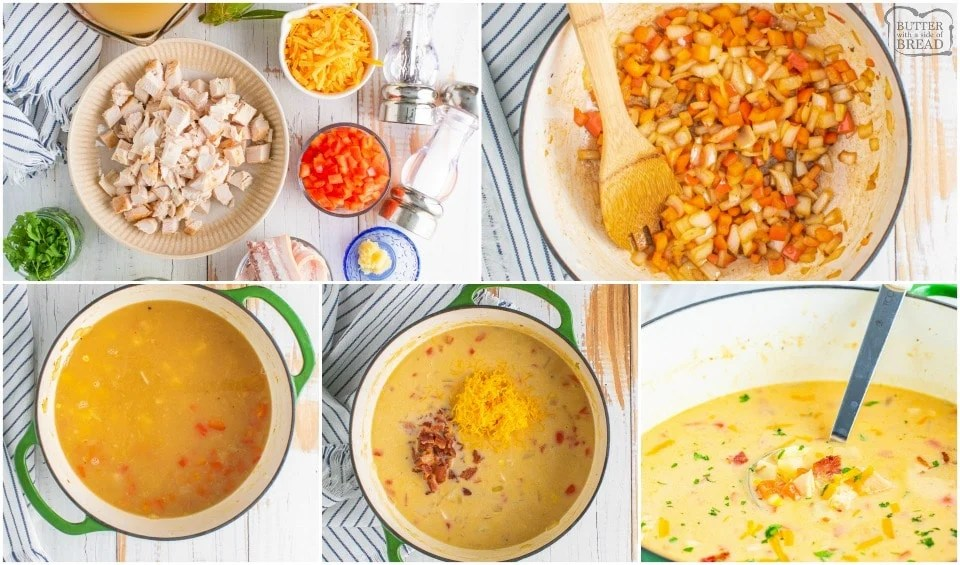 how to make Leftover Turkey Corn Chowder soup recipe