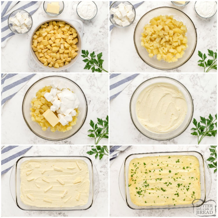 Step by step instructions on how to make best mashed potatoes recipe