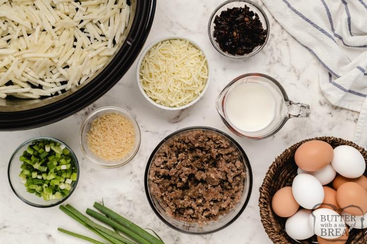 Ingredients in breakfast casserole recipes