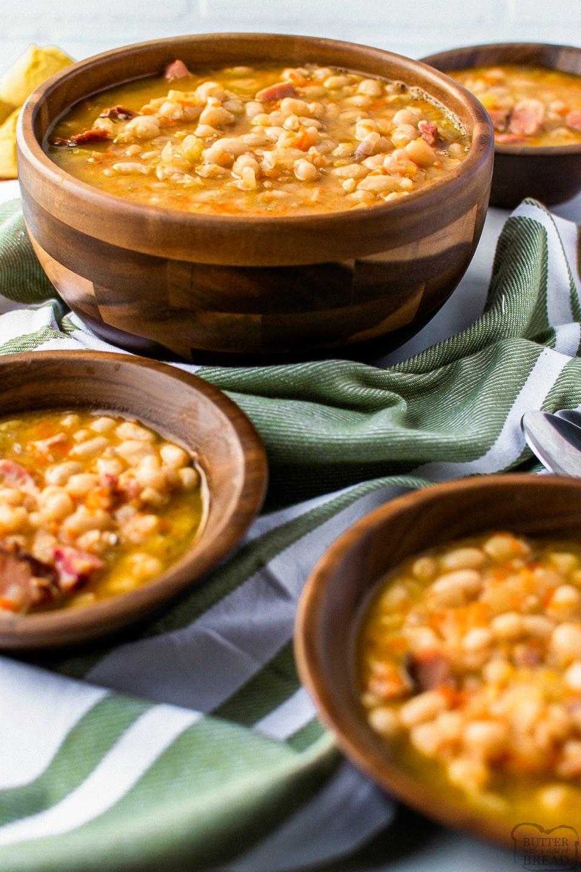 Easy Crockpot Ham and Bean Soup recipe