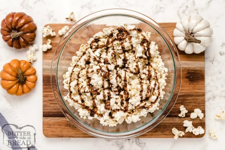 How to make maple pumpkin spice coating for popcorn