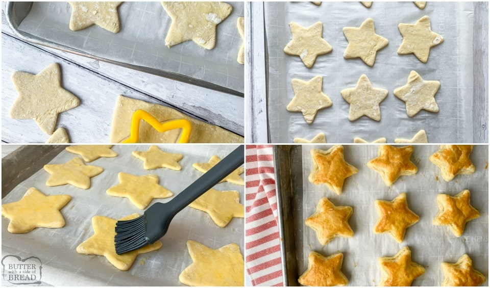 how to make Christmas Star Peppermint Cream Puffs easy recipe