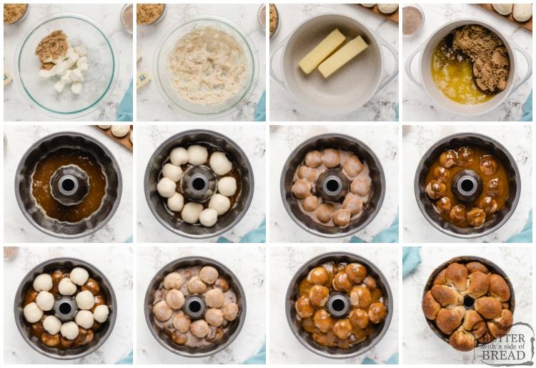How to make cream cheese stuffed monkey bread