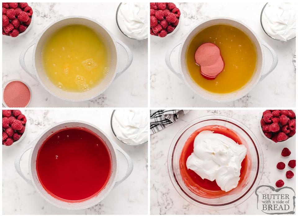 How to make creamy raspberry jello
