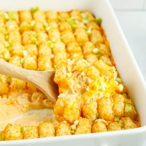 How to make Buffalo Chicken Tater Tot Casserole for dinner