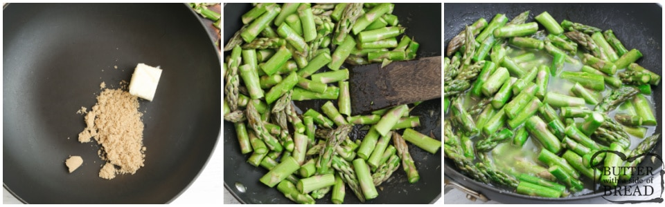 How to make asparagus on the stove
