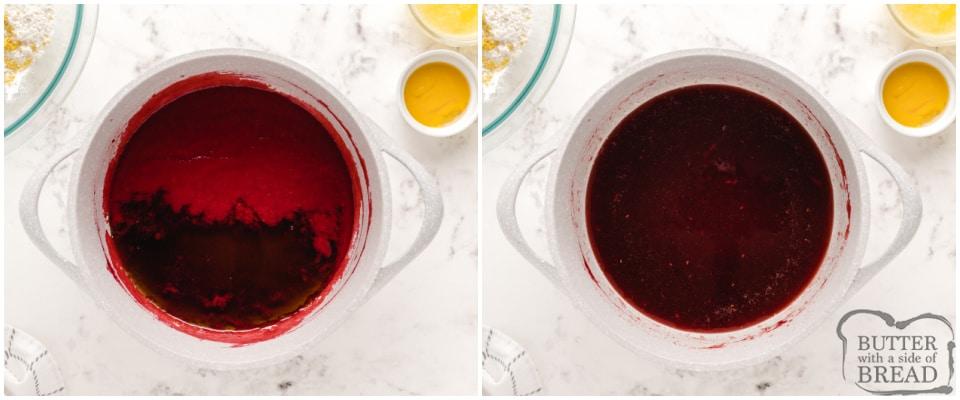 How to make homemade raspberry syrup