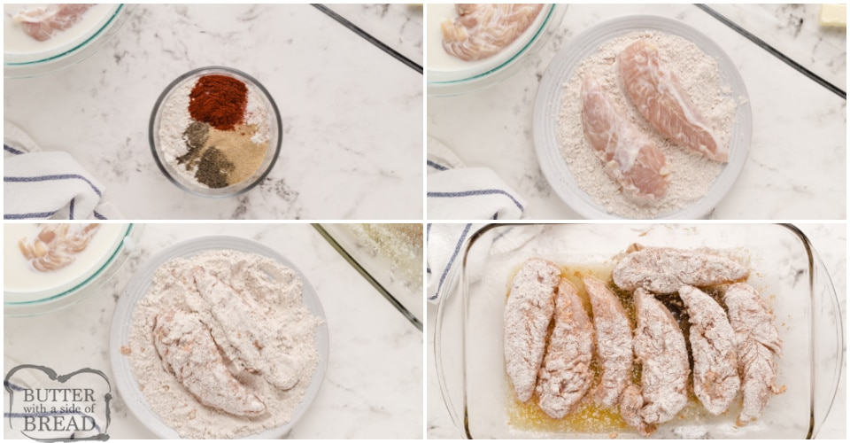 How to make oven baked fried chicken