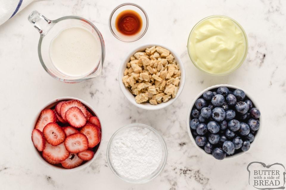 Ingredients in Lemon Berry Yogurt Parfaits