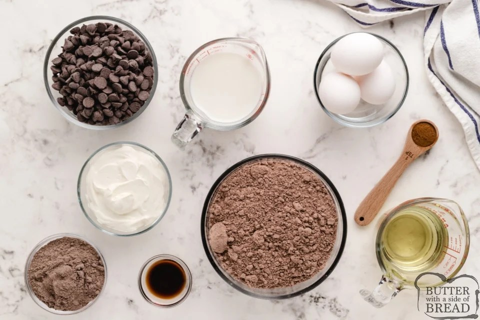 Ingredients in Copycat Costco Chocolate Muffins