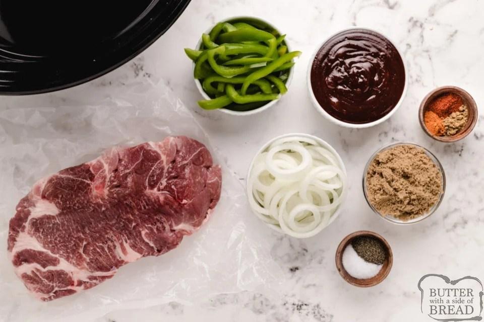 Ingredients in Crockpot Pulled Pork recipe