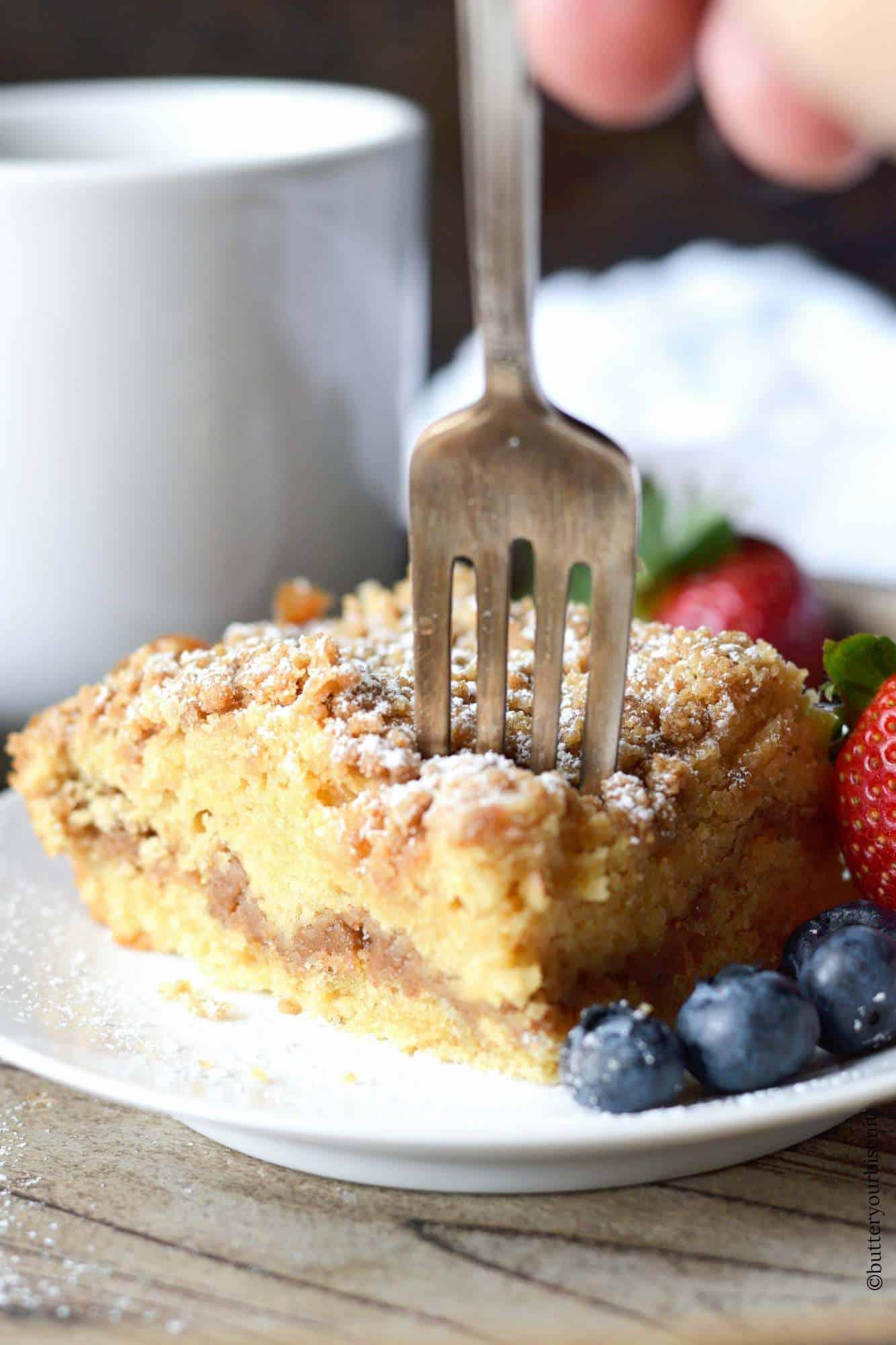 Moist Blueberry Sour Cream Cake