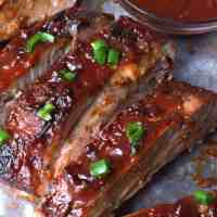 Easy Oven BBQ Baked Ribs