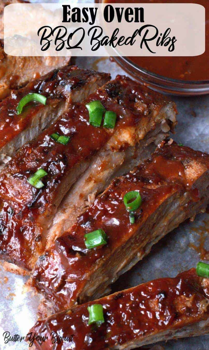 This baked ribs recipe is truly the only recipe you will ever need. Fall off the bone pork ribs that are full of flavor, and always a huge crowd pleaser! #ribs #ovenribs