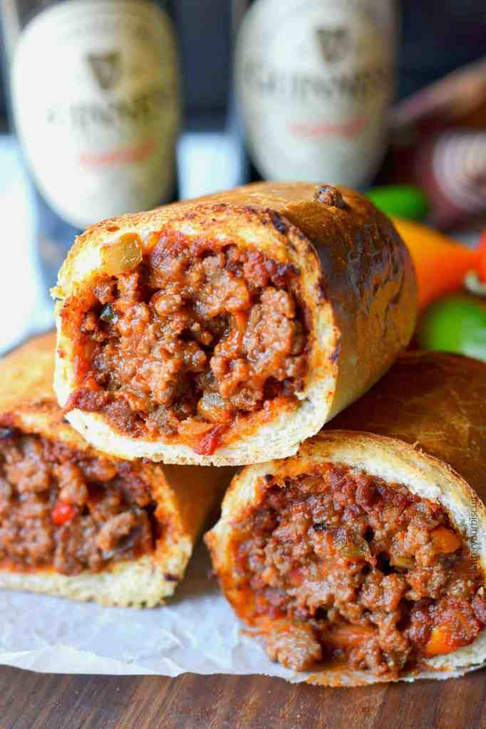 Not-So-Sloppy Joe Stuffed Rolls