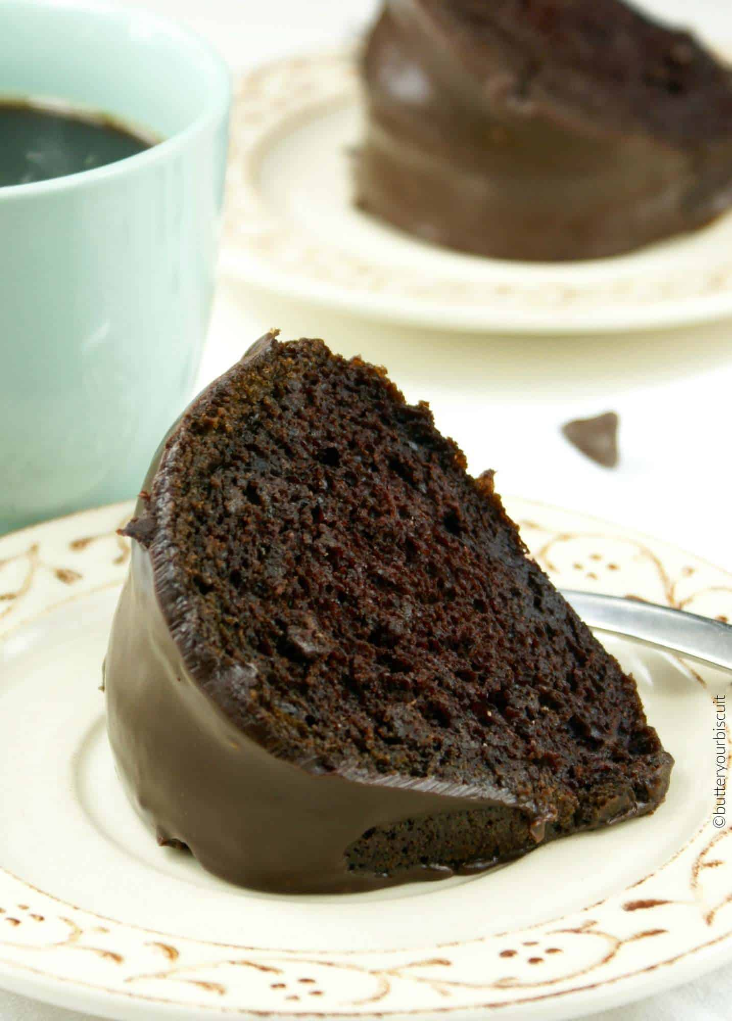 Chocolate Bundt Cake With Ganache Glaze Recipe Butter Your