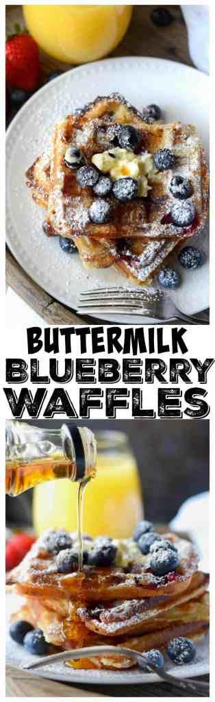 buttermilk blueberry waffles