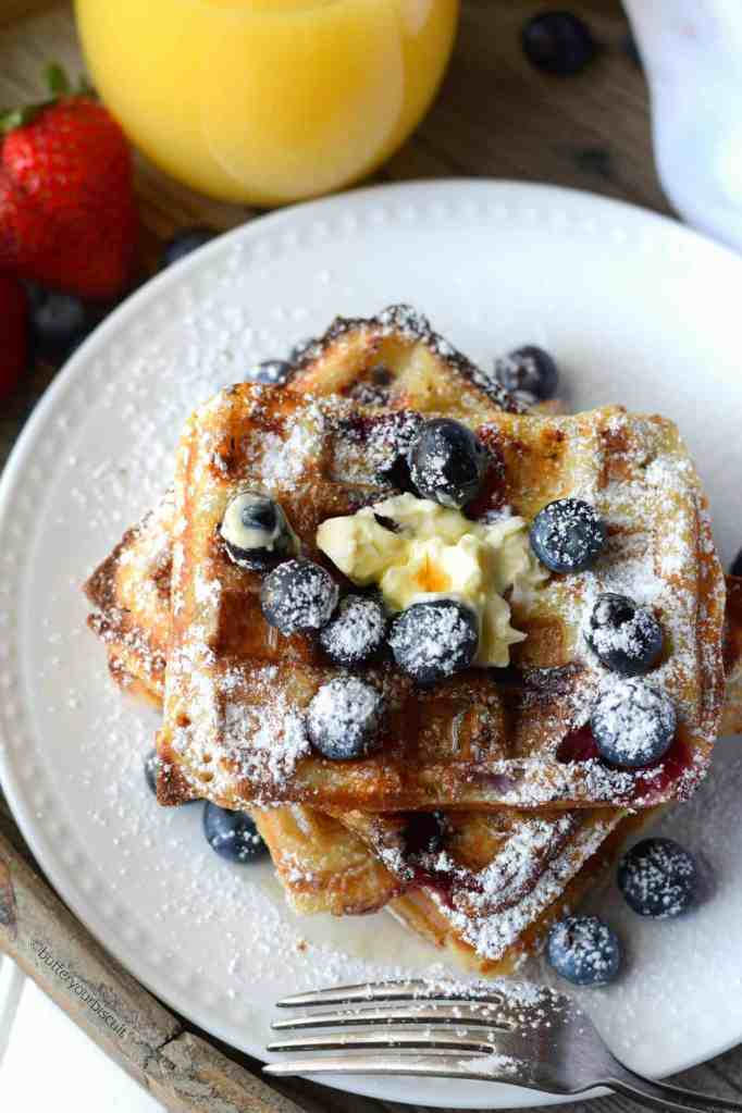 buttermilk blueberry waffles