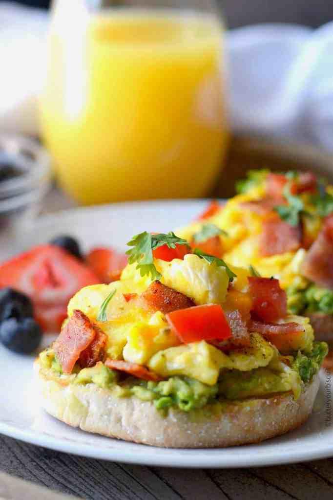 Open-Faced Breakfast Sandwich