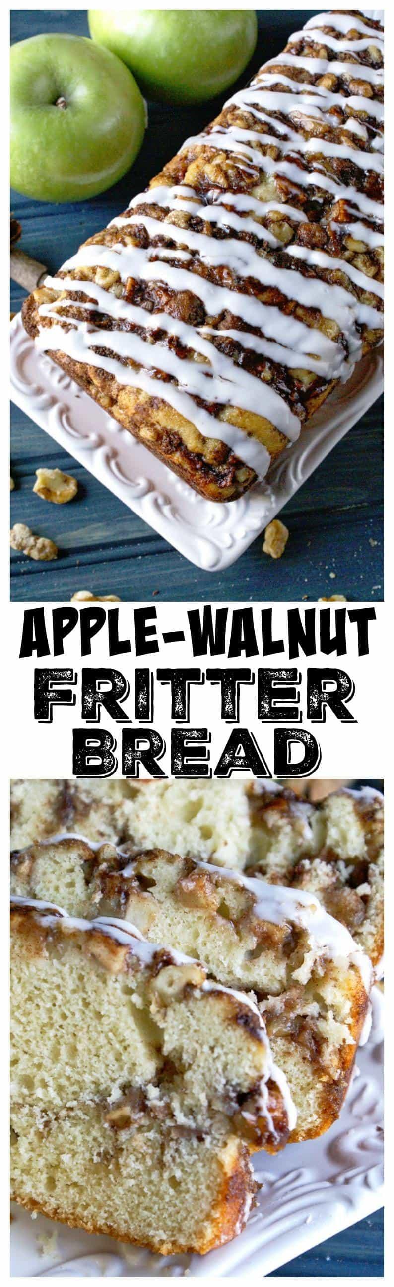 Apple-walnut fritter bread