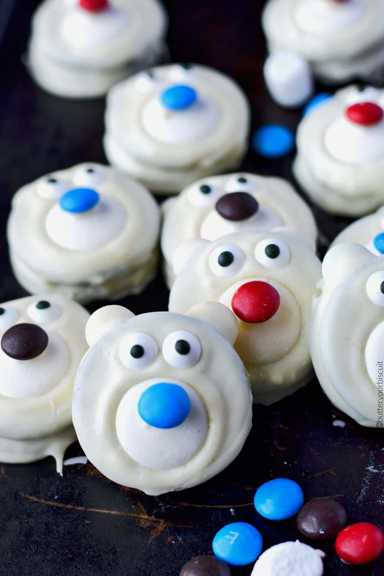 No Bake Polar Bear Cookies Recipe Butter Your Biscuit
