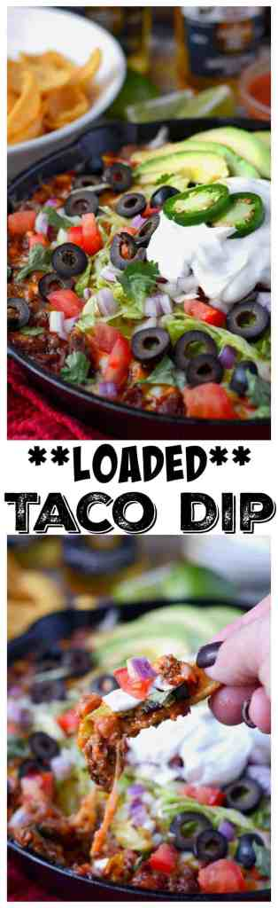 Loaded taco dip