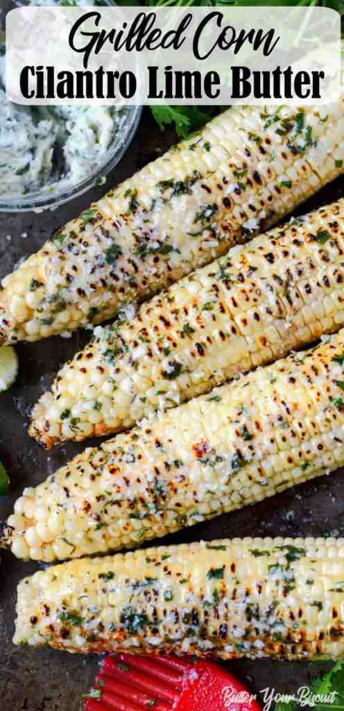 ed corn with cilantro lime butter