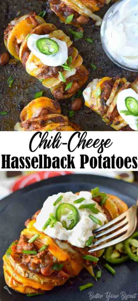 chili cheese hasselback potatoes