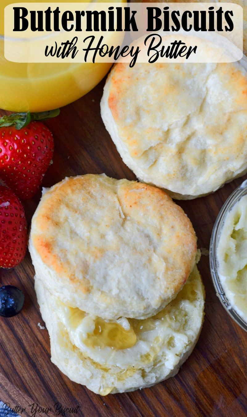 Buttermilk biscuits are soft, with layers and flaky buttery goodness. They come together quickly and perfect for the freezer. #buttermilkbiscuits #biscuits #breakfast