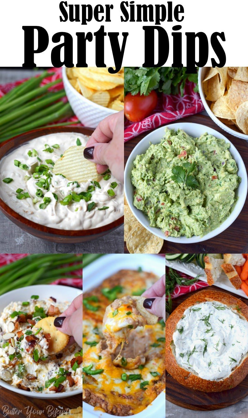 Party dips make for the best and easiest appetizers. So whether you're looking for a fresh dip, creamy dip or something a little different. #partydips #easydips #dips #gamedayfood #appetizers
