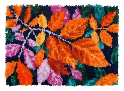 tapis au point noue automne moderne 53 x 39 cm