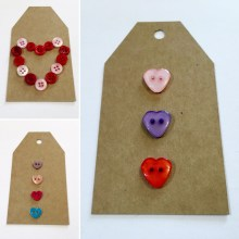 Heart button gift tags