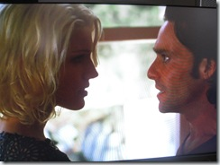Caprica Six and Baltar talking on my Xbox 360
