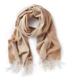 Two toned fringe scarf