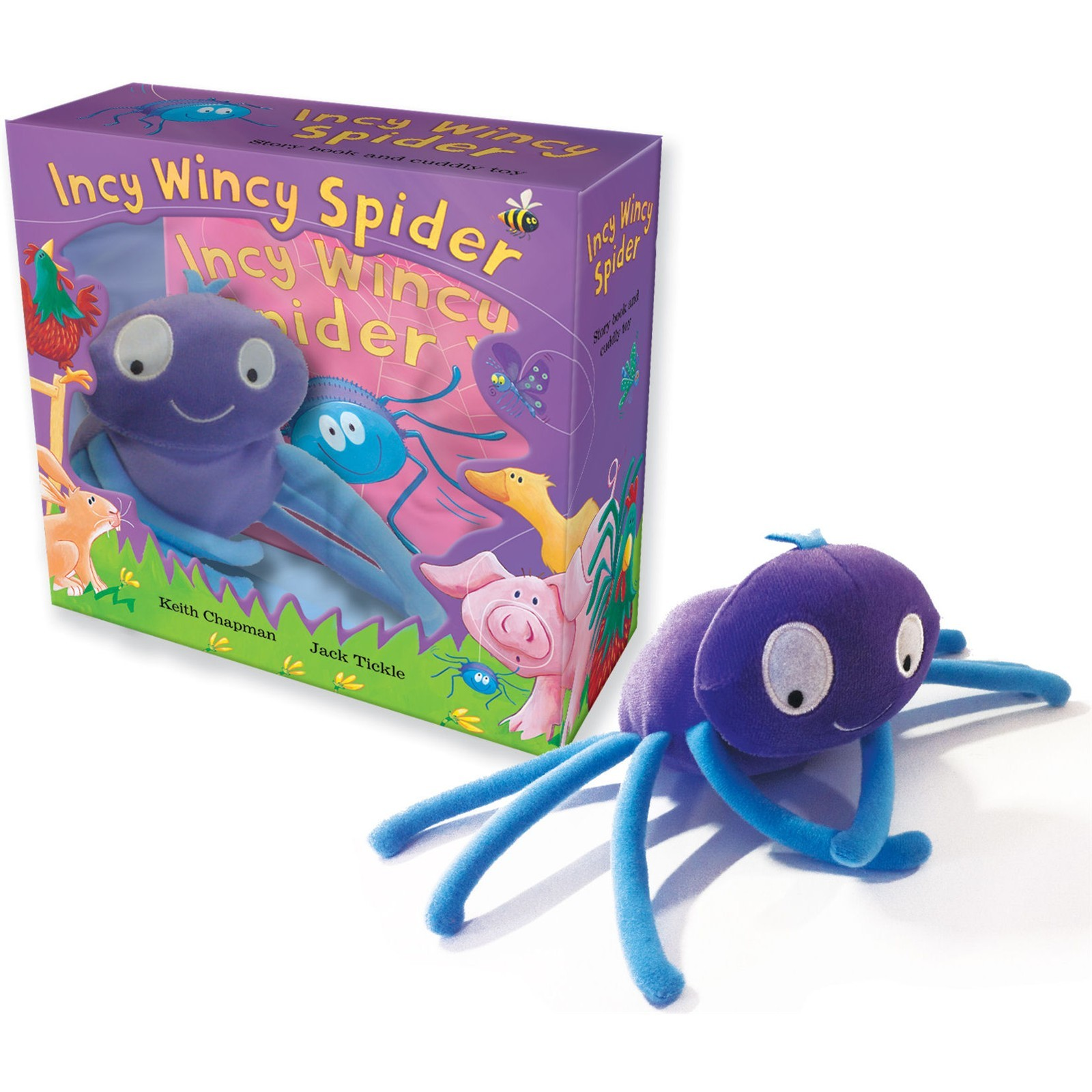 Incy Wincy Spider Collection Story Book And Cuddly Soft