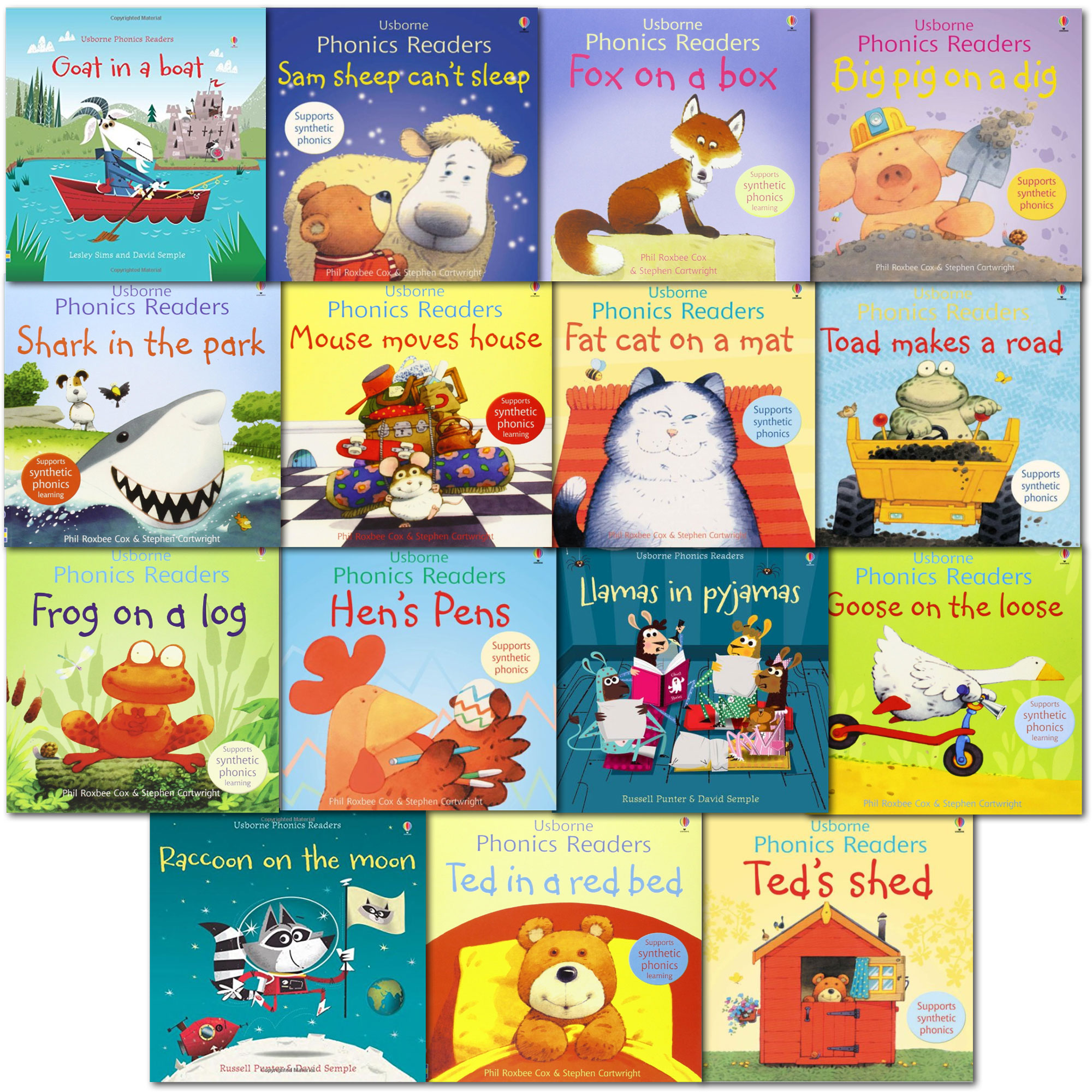 Usborne Phonics School Young Readers 15 Books Collection