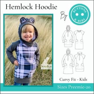 The Hemlock Hoodie for Kids - Curvy Fit