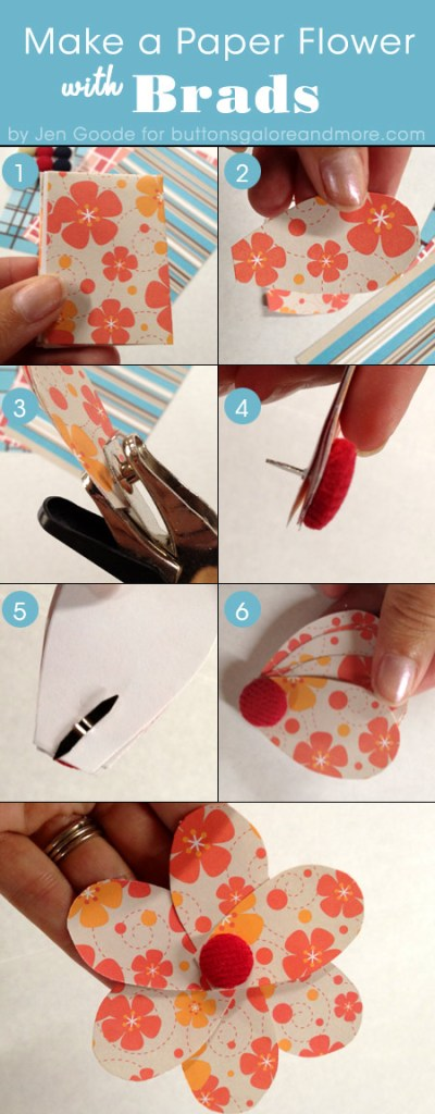 Using brads to make paper flowers steps to make a paper flower with a brad mightylinksfo