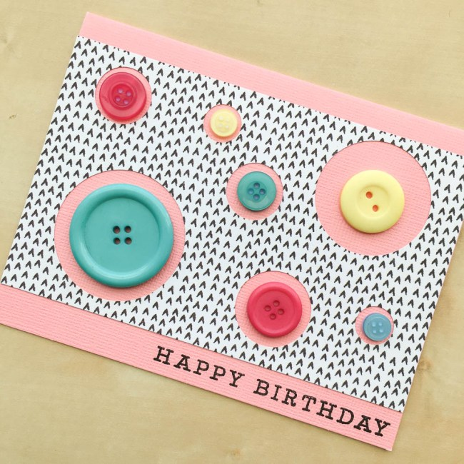 Use Trendy Circles For Making An Easy Birthday Card