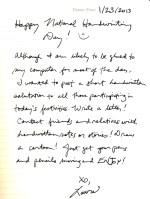 Happy National Handwriting Day